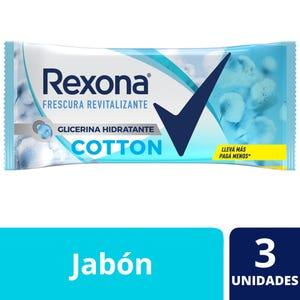 Jabón en Barra Rexona Cotton multipack 3x125 gr