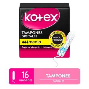 Tampones Kotex medianos 16 unidades