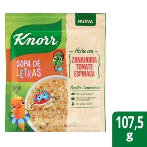 Sopa Knorr Familiar Vegetales con Fideos de Letra 107 gr