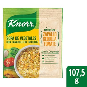 Sopa Knorr Familiar Vegetales con Fideos Caracol