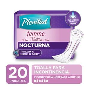Toallas nocturnas Plenitud Femme 20 unidades