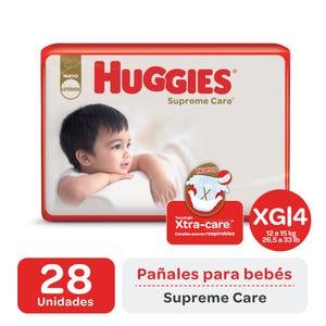 Pañales Huggies Supreme Care XG 28 unidades