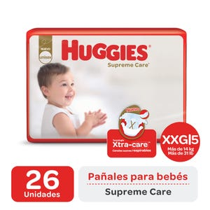 Pañales Huggies Supreme Care XXG 26 unidades