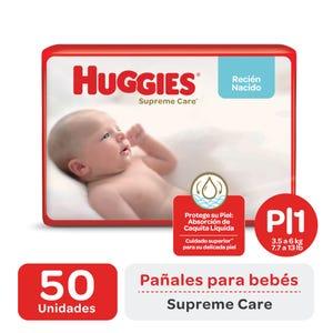 Pañales Huggies Supreme Care P 50 unidades