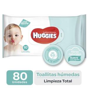 Toallitas húmedas Huggies Limpieza total 80 unidades