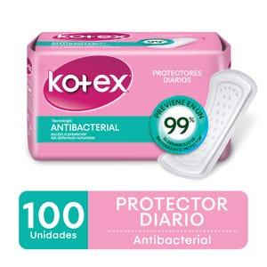 Protectores diarios Kotex antibacterial 100 unidades