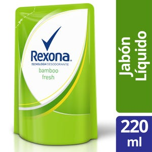 Jabón Líquido Rexona Bamboo Fresh Repuesto 220 ml