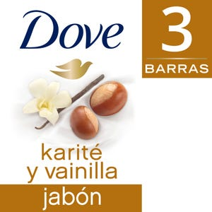 Jabón en barra Dove Karité y Vainilla Multipack 3x90 gr