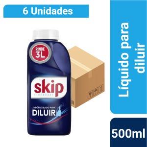 Caja x6 Jabón Líquido Skip para Diluir 500 ml