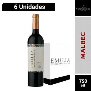 Caja de Vinos Emilia Malbec 6 unidades 750 ml