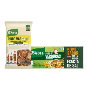 Combo Knorr Expertos en Sabor Rinde Más + Caldos