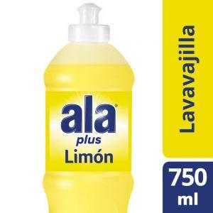 Detergente Lavavajilla Ala Plus Cristalino de Limón 750 ml