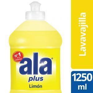 Detergente Lavavajilla Ala Plus Cristalino de Limón 1250 ml