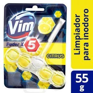 Canasta Sólida para Inodoro Vim Poder x5 Citrus 55 gr