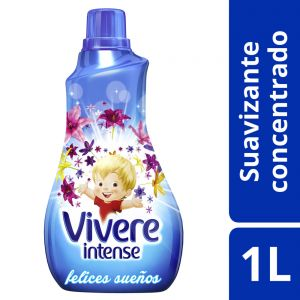 Suavizante Concentrado Vivere Intense Felices Sueños Botella 1 lt