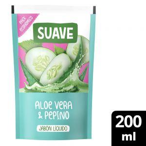 Jabón Líquido Suave Aloe Vera y Pepino 220 ml