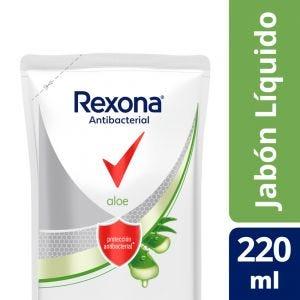 Jabón Líquido Rexona Antibacterial Aloe Vera 220 ml