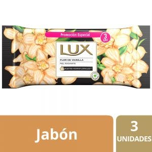 Jabón en Barra Lux Flor de Vainilla multipack 3x125 gr