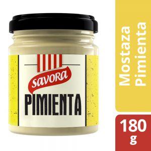 Mostaza Pimienta Savora Frasco 180 gr