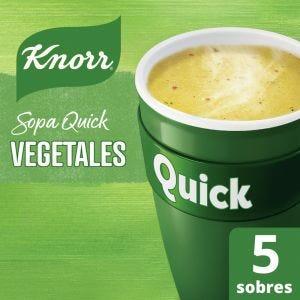 Sopa Knorr Quick Vegetales 5 Sobres