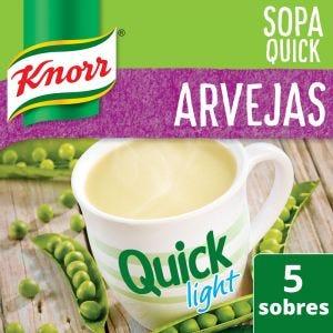 Sopa Knorr Quick Arvejas Light 5 Sobres