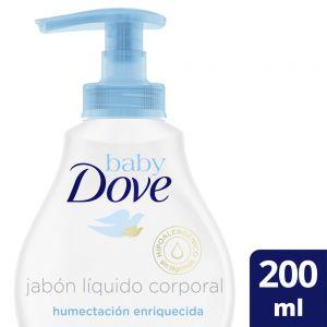Jabón Líquido Corporal Baby Dove Humectación Enriquecida 200 ml