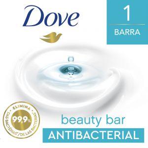 Jabón en barra Dove Antibacterial Cuida y protege 90 gr