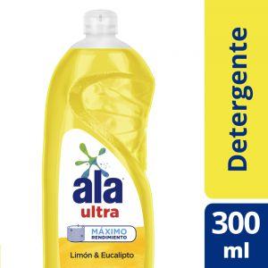 Detergente Lavavajilla Ala Ultra Desengrase Limón 300 ml
