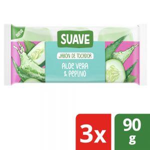 Jabón en Barra Suave Pepino y Aloe Multipack 3x90 gr