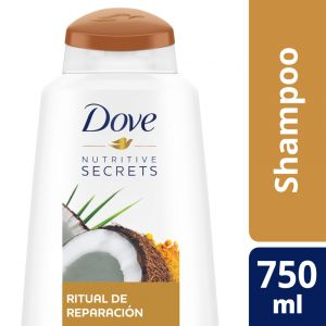 Shampoo Dove Ritual de Reparación Coco y Cúrcuma 750 ml