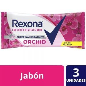 Jabón en Barra Rexona Orchid multipack 3x125 gr