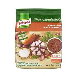 Sazonador Deshidratado Knorr Pimentón, Ajo y Cebolla 470 gr