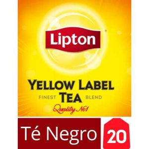 Té Negro Lipton Yellow Label 20 un