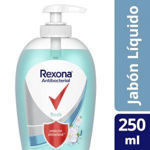 Jabón Líquido Rexona Antibacterial Fresh 250ml