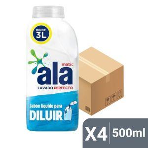 Caja x4 Jabón Líquido Ala para Diluir 500 ml