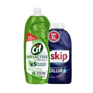 Combo Skip para diluir + detergente Cif